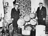 American gangsters of the 20s and 30s with alcohol stills