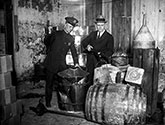 A moonshine still bust in Chicago prohibition period