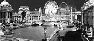 Evening photo of Chicago World Fair of 1893