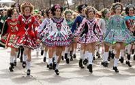 Irish Dancers in Chicago's Saint Pattys Day Parade