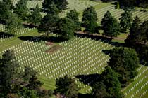 Aerial view of Normandy American Cemetery
