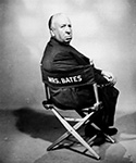 Alfred Hitchcock in Directors chair
