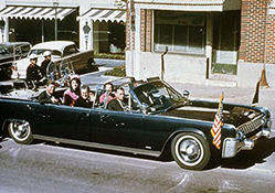 John F Kennedy in Limo Photo