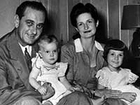 Lyndon B Johnson with his wife and children