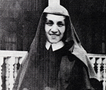 A young close-up of Mother Teresa