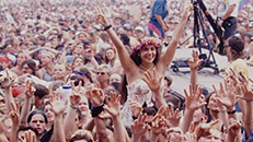 Crowds at Woodstock Festival