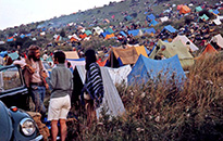 Tents at Woodstock Music Festival