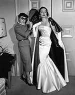 Edith Head with Model